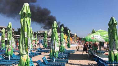plaja eforie incendiu