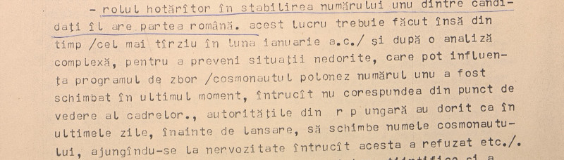 telegrama MAE dosarul Soiuz zborul cosmic româno-sovietic