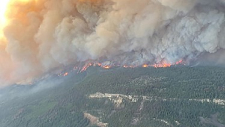 Localitatea din Canada unde temperatura a ajuns la aproape 50 de grade, cuprinsă de incendiu