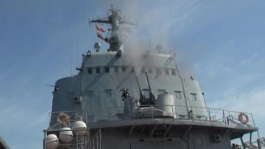 nava de razboi ruseasca trage cu munitie reala la un exercitiu in marea neagra