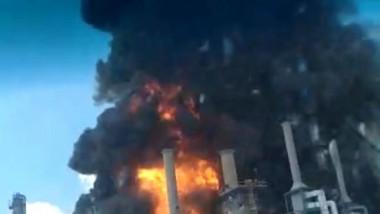 Explozie și incendiu la Rafinăria Petromidia din Năvodari,