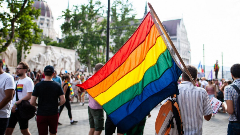 Budapest, Hungary. 6th July, 2019. Thousands of people celebrate the Budapest Pride March demands for better rights and equality. Budapest Pride is a series of LGBTQ events in Budapest, Hungary. Credit: Zoltan Galantai / Alamy Live News