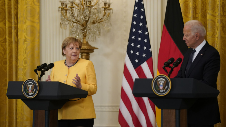 Biden Holds a Joint Press Conference with Dr. Angela Merkel the Chancellor of Germany, Washington, District of Columbia, USA - 15 Jul 2021