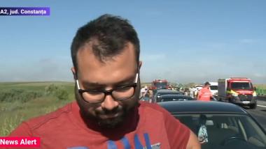 Șofer implicat în carambolul de pe Autostrada Soarelui.
