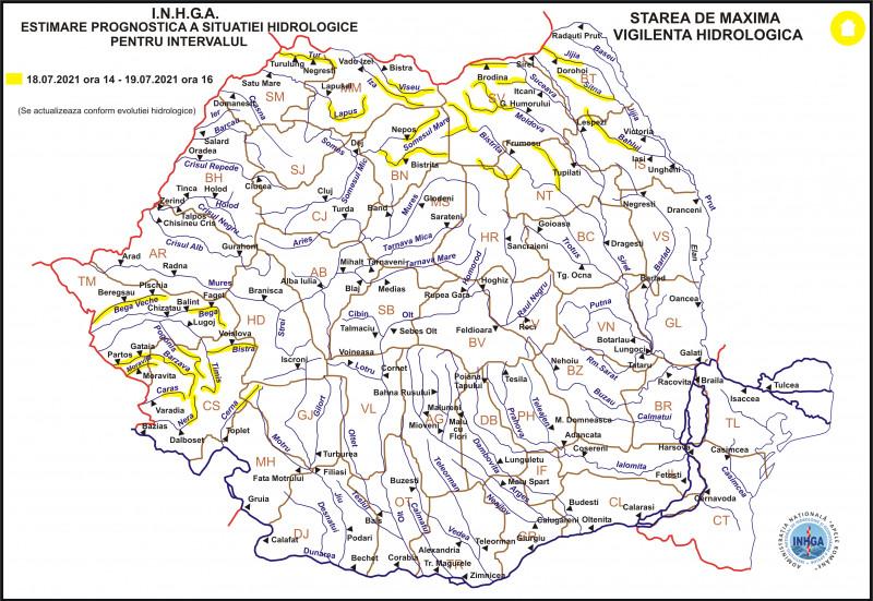 Harta_Atentionare_hidrologica nr.76 din 18.07.2021