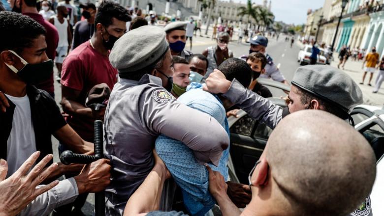 Proteste în Cuba. Administrația Biden adoptă primele sancțiuni împotriva regimului de la Havana