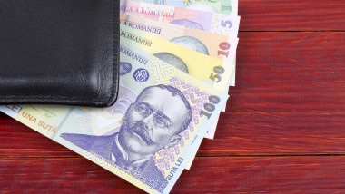 Money from Romania in the black wallet