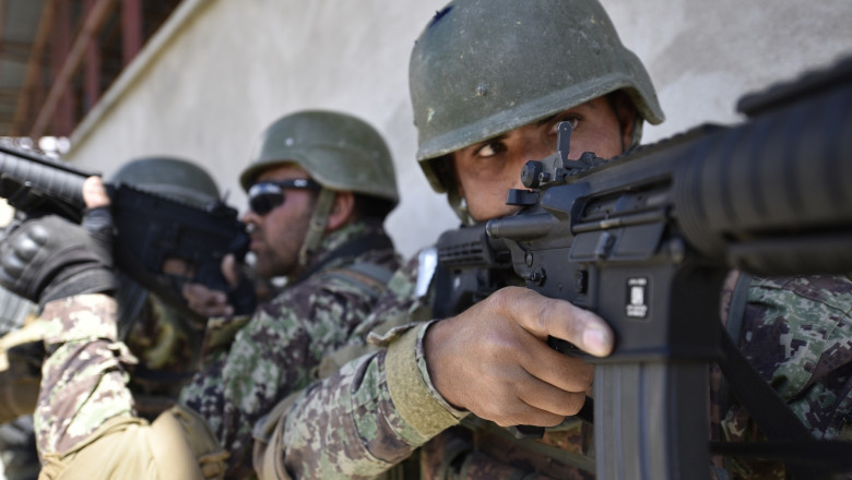 """Afghanistan: A day at Camp Commando: Building the """"Heroes of Afghanistan"""""""