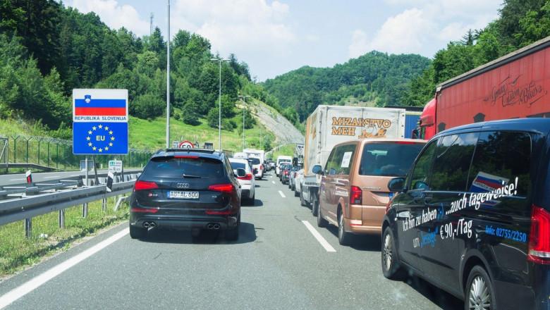 granița indicator de intrare slovenia profimedia