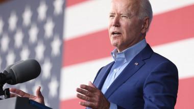 President Joe Biden participates in a campaign event for Virginia gubernatorial candidate Terry McAuliffe