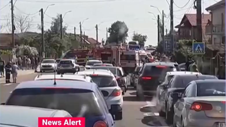 Accident cu 7 victime în localitatea 23 August din Constanța. Circulația spre Mangalia este îngreunată