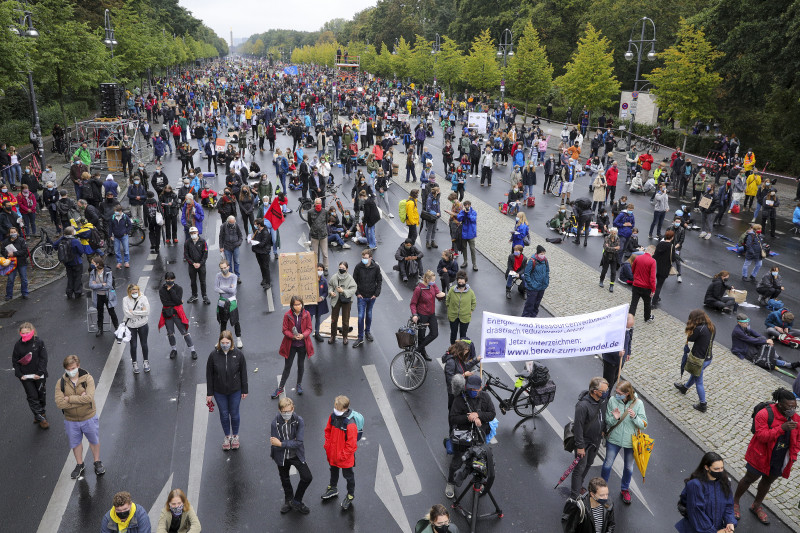 Global Day Of Climate Action Held By Fridays For Future