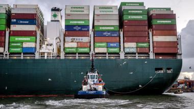 Nava cargo Ever Given a ajuns în portul Rotterdam.