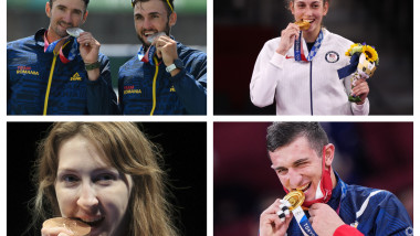 De ce își mușcă olimpicii medaliile la Tokyo 2020