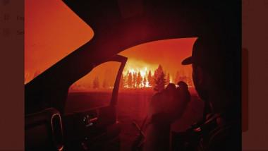Incendii de vegetație în vestul Canadei.