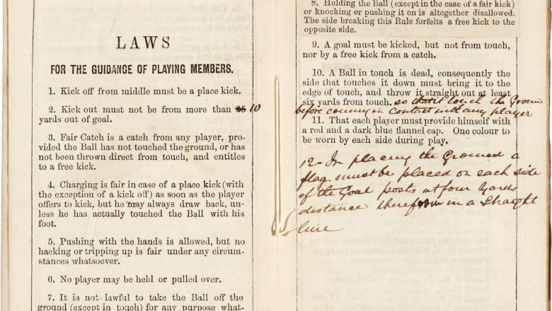 primele reguli fotbal