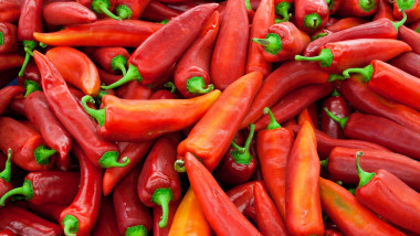 Delicous and fresh red pepper background