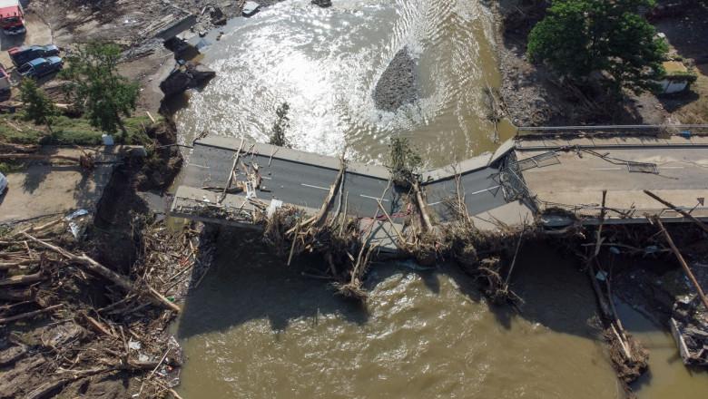 Dezastrul din Germania în imagini. Inundațiile catastrofale au lăsat în urmă daune de 2 miliarde de euro doar la infrastructura rutieră
