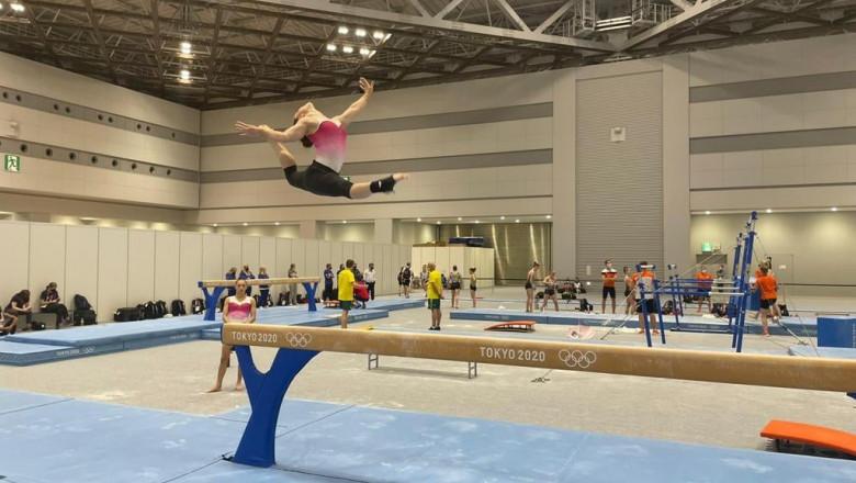 Jocurile Olimpice Tokyo. Larisa Iordache are probleme la gleznă și renunță la concursul individual compus
