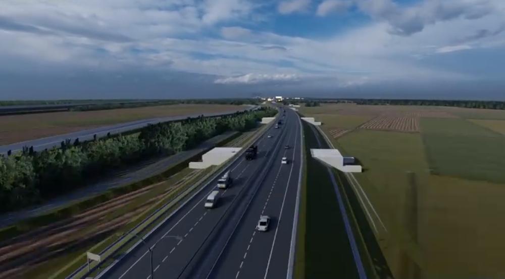 VIDEO. Imagini 3D cu tronsonul 5 al Autostrazii Sibiu-Pitesti. Pe cei 30 de kilometri vor fi 13 poduri, 3 pasaje si un viaduct