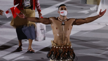 Team Tonga Marches in Opening Ceremonies