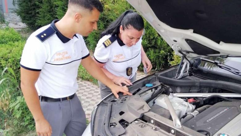 BMW confiscat de polițiști.