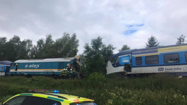 coliziune trenuri cehia