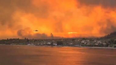 incendiu insula evia grecia