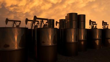 pump jacks in an oil field