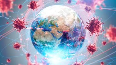 globul pamantesc incunjurat de covid-19