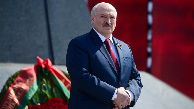 Belarus' President Lukashenko at Victory Day celebrations in Minsk
