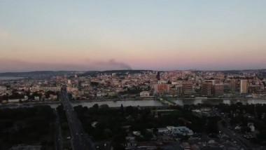 fum de la incendiul de la groapa de gunoi in belgrad