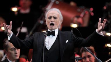 Tenorul spaniol Jose Carreras în concert