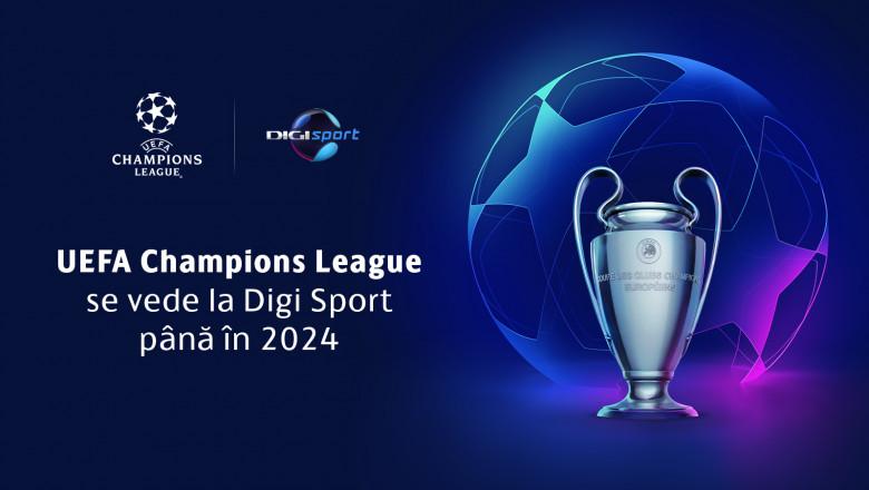 Carton de prezentare a UEFA Champions League la Digi Sport.