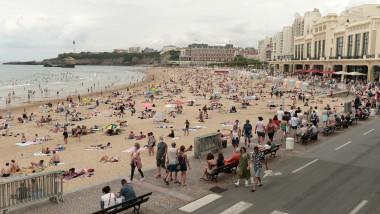 Plajă din localitatea franceză Biarritz.