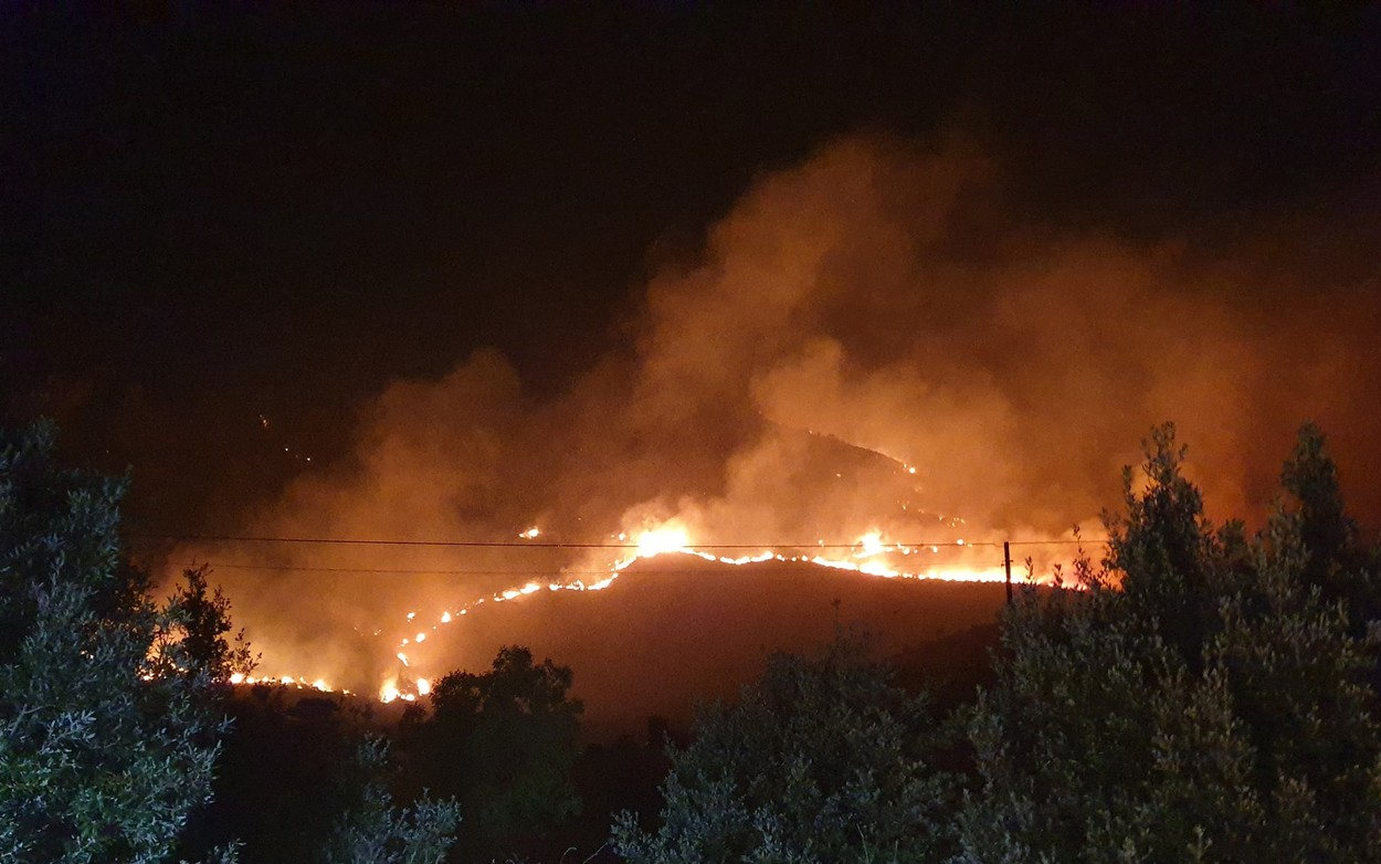 The Sirocco Wind Blows Violent Fires In Sicily