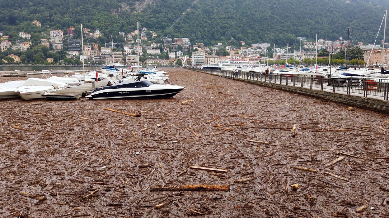 Extensive Damage After The Flood At Lake Como