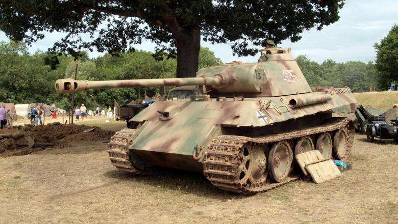 Tanc Panther din Al Doilea Război Mondial. Foto: Profimedia Images