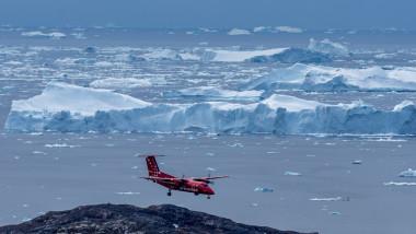 Schimbările climatice determină topirea ghețarilor.