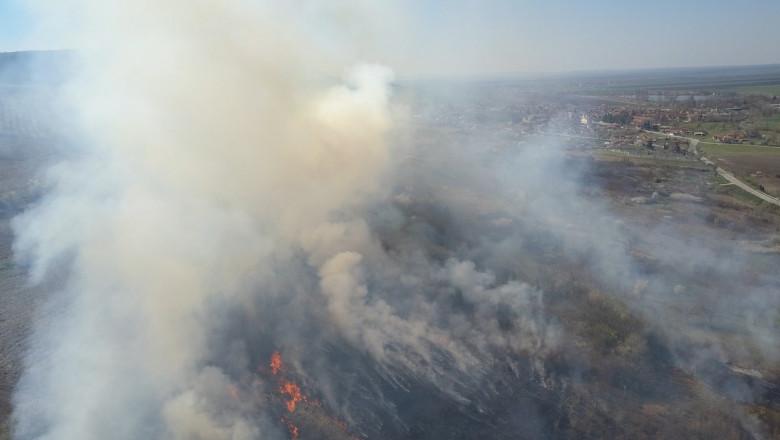 incendiu de vegetatie in bulgaria