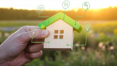 concept grafic pentru casă eco