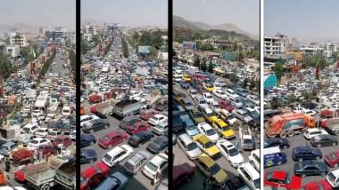 mii de masini blocate pe strazile din kabul