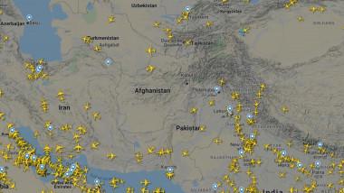 harta avioane in zona afganistan