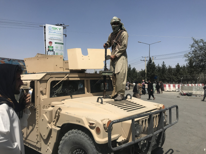 Chaos at Kabul airport as afghans try to leave capital, Afghanistan - 16 Aug 2021