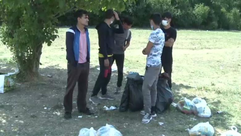 Migranți afgani la Timișoara