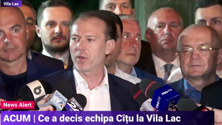 Florin Cîțu și susținătorii săi.