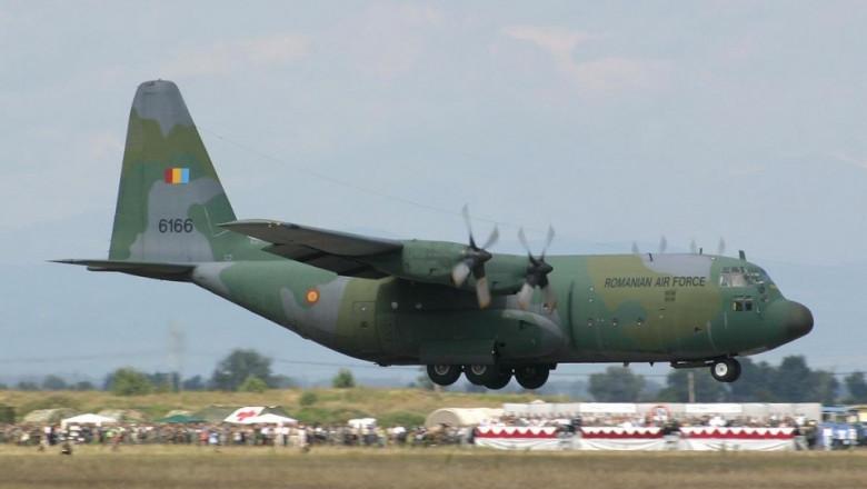 avion C-130 Hercules in culori de camuflaj alfortelor armate romane