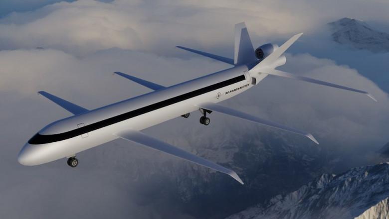 avion cu sase aripi reprezentare grafica 3 d