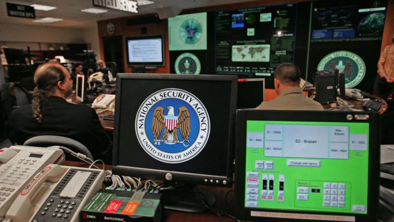 Încăpere cu computere a NSA.