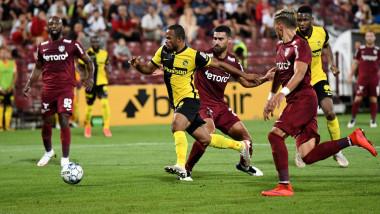 Fază de joc din meciul Young Boys Berna CFR Cluj.